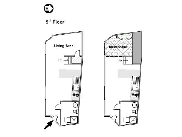 Narrow Studio Apartment Floor Plans
